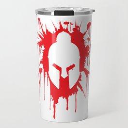 Spartan Helmet in Bloodstain   Warrior Workout Travel Mug