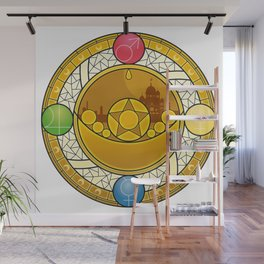 Sailor Moon Crystal stained glass window Transformation Brooch Wall Mural