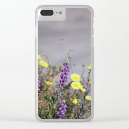 Arial Raid on Flowers Clear iPhone Case