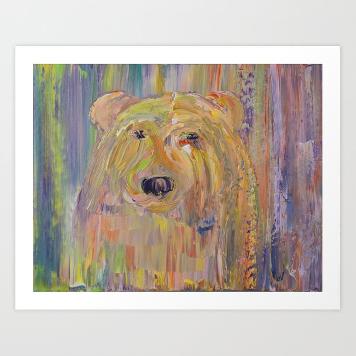 Bearly There I Art Print