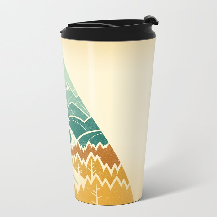 The Road Goes Ever On: Autumn Metal Travel Mug