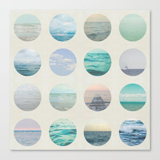 Ocean Polka dot  Canvas Print