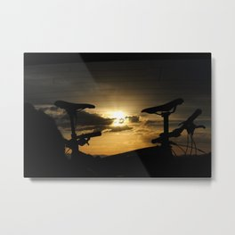 Bike sunset Metal Print