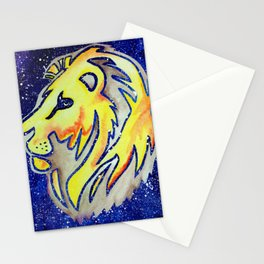 Lion Head Galaxy Stationery Cards