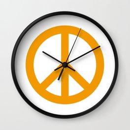 Peace (Orange & White) Wall Clock