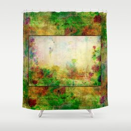 Ginkelmier Land ~ Watercolor Fairy Garden Shower Curtain