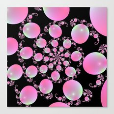 Pink Balloon Spiral Canvas Print