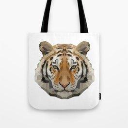 Geometrical Tiger Head Silhouette Tote Bag