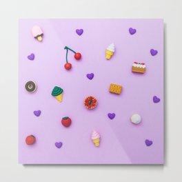 pattern of sweets Metal Print