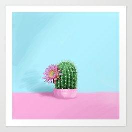 Cactus Flower Serie 1 Art Print
