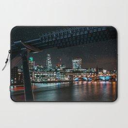 Night London Cityscape View From Millennium Bridge Laptop Sleeve