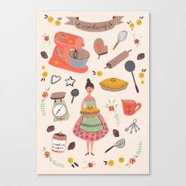 Cooking some cookies Canvas Print