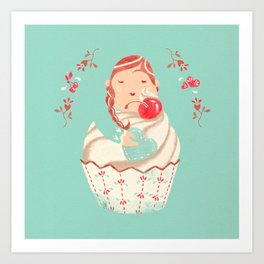 Sweet Cupcake Art Print