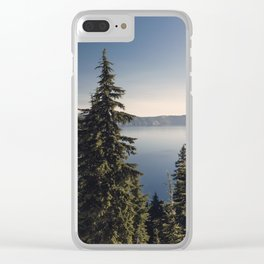 Through the Pines Clear iPhone Case