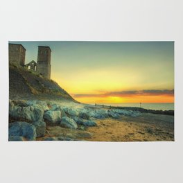 Reculver Towers At Sunset Rug