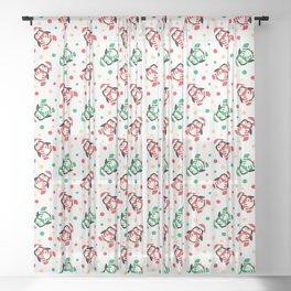 Christmas Penguins and Polka Dots Sheer Curtain