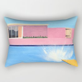 Splash! after David Hockney Rectangular Pillow