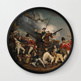 The Death of General Mercer at the Battle of Princeton, January 3, 1777 Wall Clock