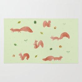 Red Squirrels Rug