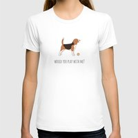 beagle T-shirts featuring BEAGLE by CharmArtStudio