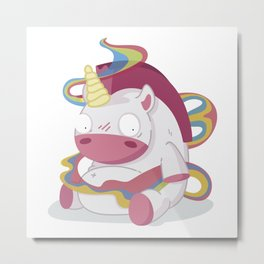 May your day be more beautiful than a unicorn farting rainbows Metal Print