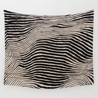 calligraphy Wall Tapestries featuring it's waving calligraphy by Anna Grunduls