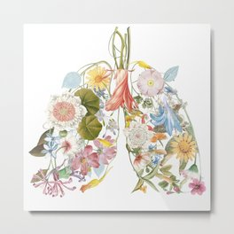 Floral art in a lung format. For smart people. Only fresh air inside. Metal Print