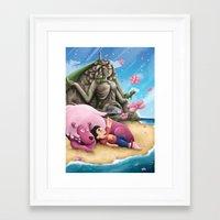 steven universe Framed Art Prints featuring Steven Universe by toibi