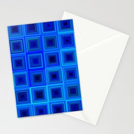 6x6 005 - abstract neon blue pattern Stationery Cards