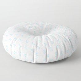 SKULLS PATTERN - LIGHT BLUE - LARGE Floor Pillow