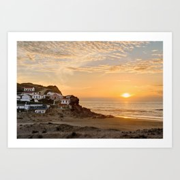 Sunset on the Costa Vicentina, Portugal Art Print