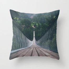 Crossing bridges. Throw Pillow