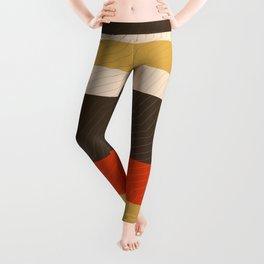 Retro Zigzag Geometric Pattern Leggings