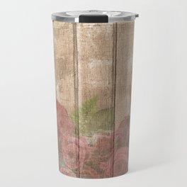 Vintage Shabby Chic Elegant Country Wine Roses Travel Mug