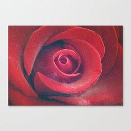 Cosmic Petal - Red Canvas Print