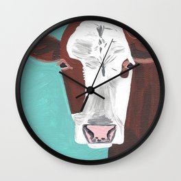 A Cow Named Adeline Wall Clock