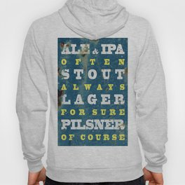 Beer always, vintage poster, metal texture background Hoody