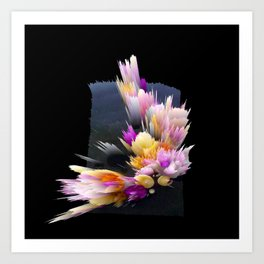 flowers 3d abstract digital painting Art Print