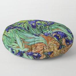 Van Gogh Purple Irises at St. Remy Floor Pillow