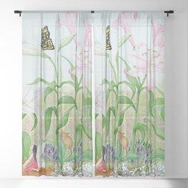 Fairy Garden#1 Sheer Curtain