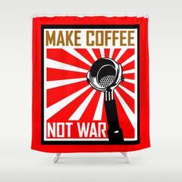 Japanese Propaganda Coffee Poster Shower Curtain