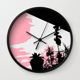 Window Searching Wall Clock