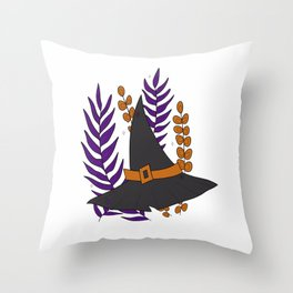 Witch's Hat Throw Pillow