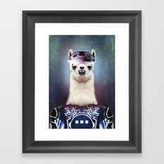 Llamatron Framed Art Print