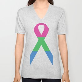 Polysexual Ribbon Unisex V-Neck