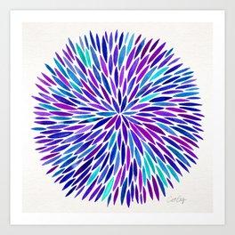 Lavender Burst Art Print