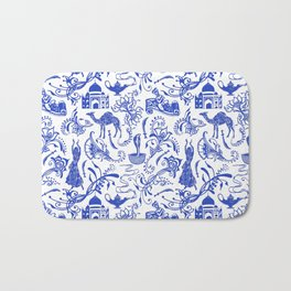 Arabian Nights // China Blue Bath Mat