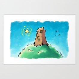 Sun on the Monolith Art Print