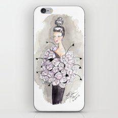 Flower and feather Retro Fashion Watercolor Illustration iPhone & iPod Skin