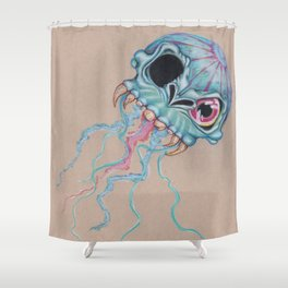Skull Jellyfish  Shower Curtain